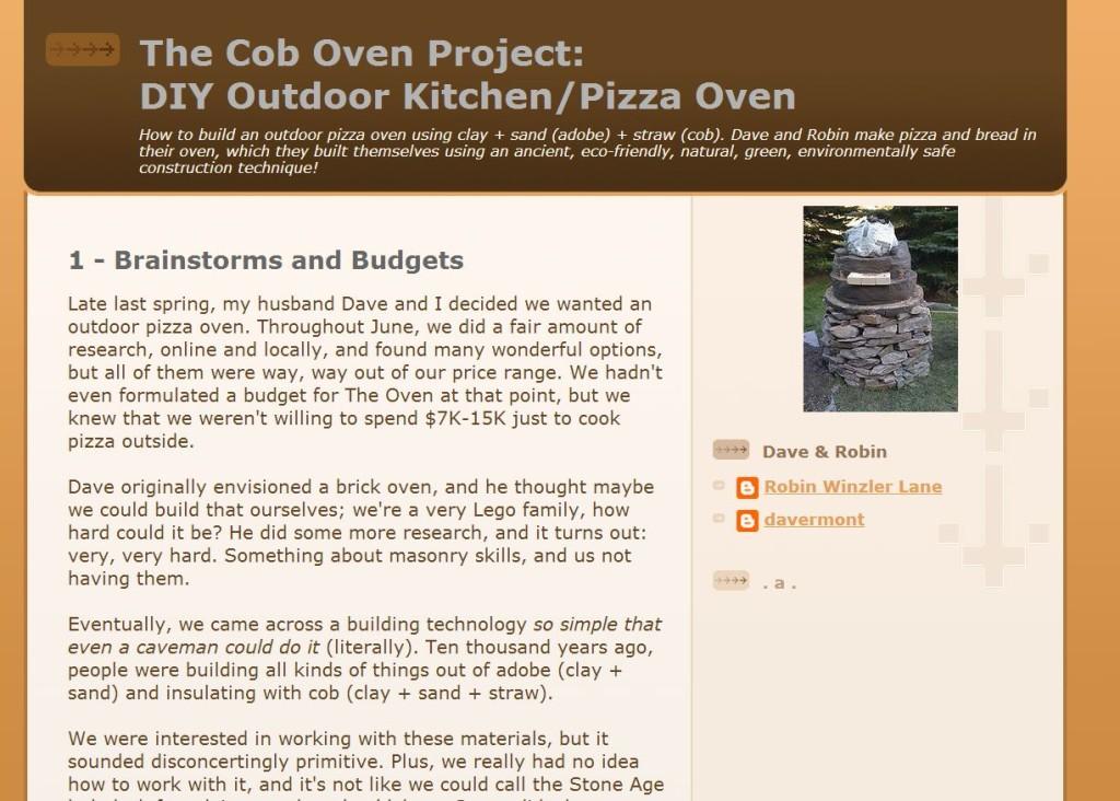 DIY Cob Oven