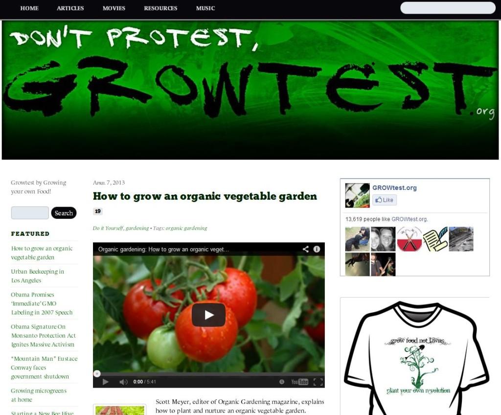 Growtest Organic Gardening