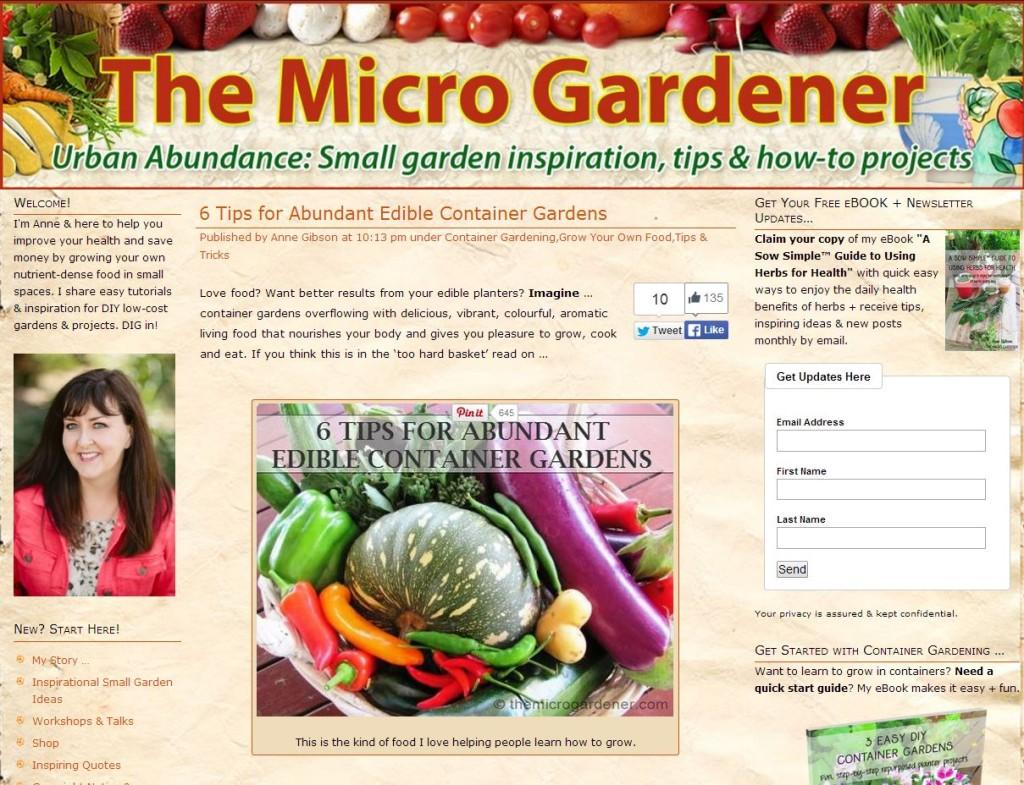 Edible Container Gardening