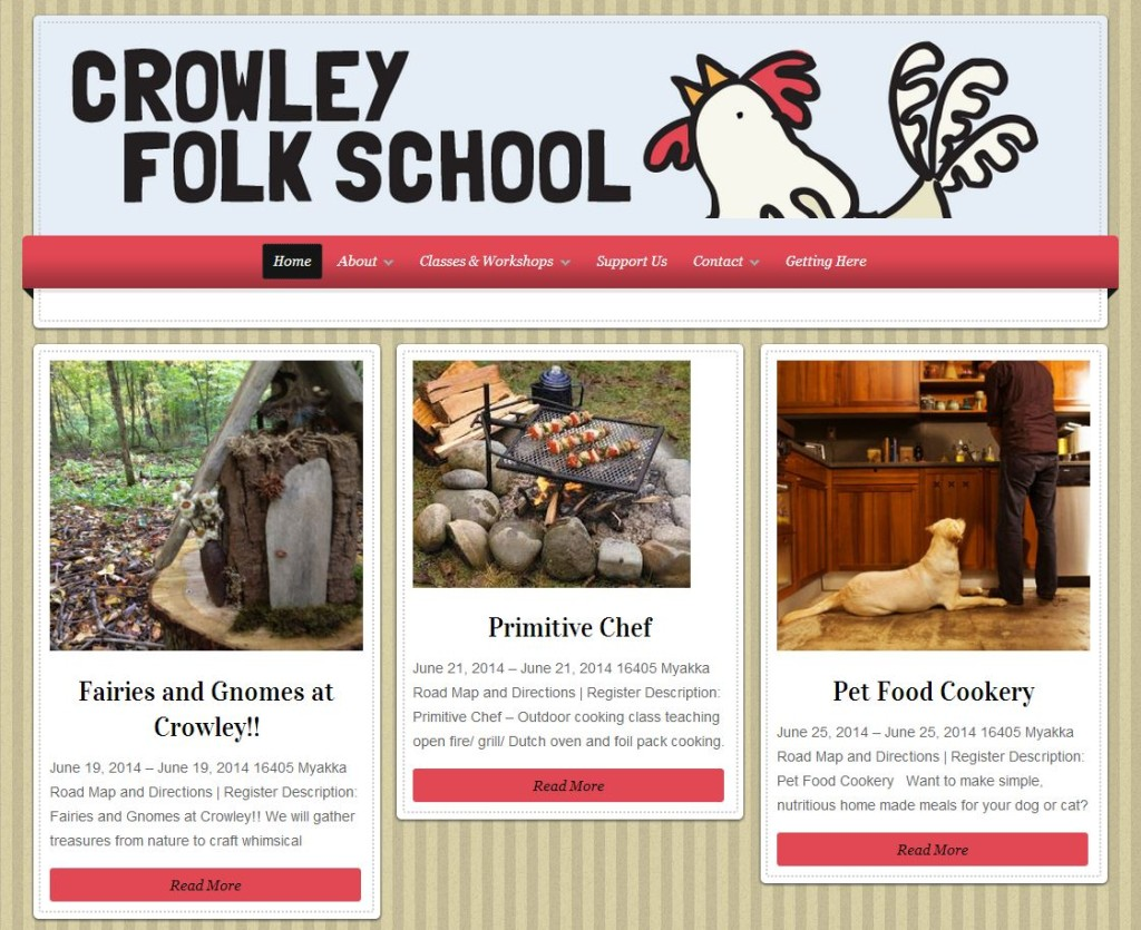 Crowley Folk School Sustainability
