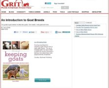 Raising Goats: An Introduction