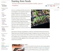 Starting from Seeds (Courtesy Organic Gardening Magazine)
