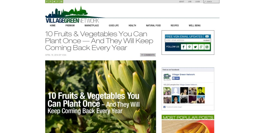 grow perennial fruits and vegetables