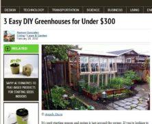 DIY Greenhouse from TreeHugger.Com's Ramon Gonzalez