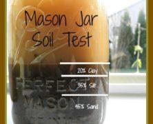 DIY Soil Test in a Mason Jar